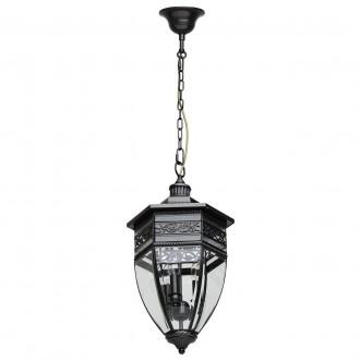 CHIARO 801010403 | Corso-MW Chiaro függeszték lámpa 3x E14 1935lm IP44 fekete, átlátszó