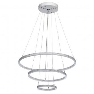 DE MARKT 496019103 | Aurich De Markt függeszték lámpa távirányító szabályozható fényerő, állítható színhőmérséklet 1x LED 4800lm 3000 <-> 6000K matt fehér