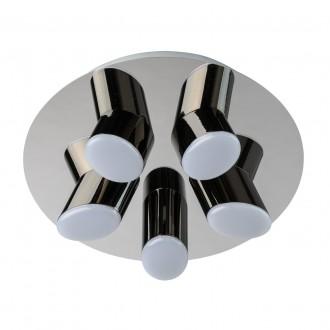 DE MARKT 609013605 | Flensburg De Markt mennyezeti lámpa 5x LED 1600lm 3200K króm, fekete, opál