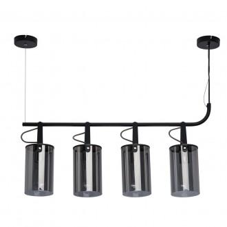 DE MARKT 673014504 | Alpha-MW De Markt függeszték lámpa 4x E27 1720lm fekete, füst