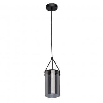 DE MARKT 673014701 | Alpha-MW De Markt függeszték lámpa 1x E27 430lm fekete, füst