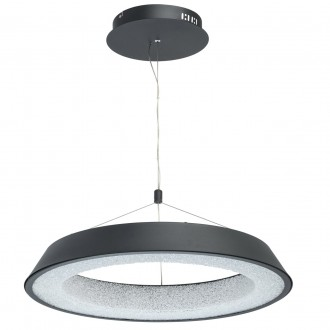 DE MARKT 703010901 | Omega-MW De Markt függeszték lámpa 1x LED 3200lm 3000K matt fekete, kristály hatás