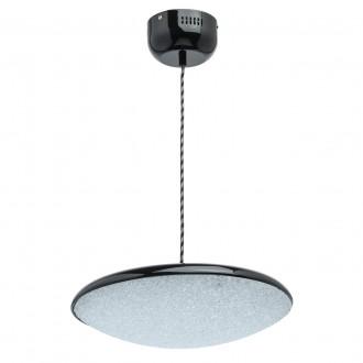 DE MARKT 703011101 | Omega-MW De Markt függeszték lámpa 1x LED 1600lm 3000K fekete, kristály hatás