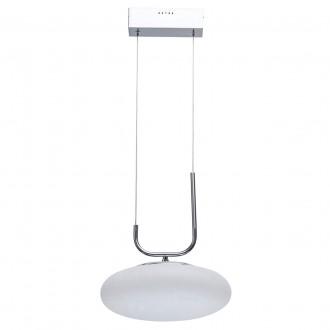 DE MARKT 722010601 | Auksis De Markt függeszték lámpa 1x LED 2400lm 3000K szatén króm, opál