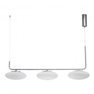 DE MARKT 722010803 | Auksis De Markt függeszték lámpa 3x LED 7200lm 3000K szatén króm, opál