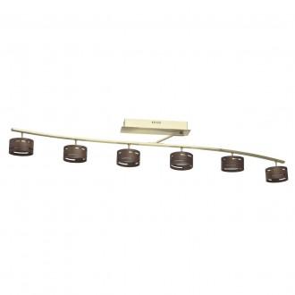 DE MARKT 725011006 | Chill-out De Markt mennyezeti lámpa szabályozható fényerő 6x LED 3000lm 3000K matt arany, fa., opál