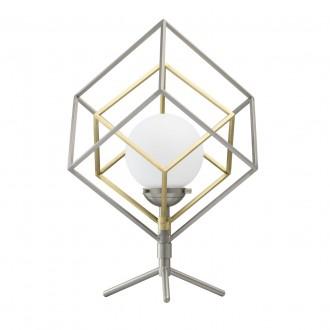 DE MARKT 726030401 | Prisma-MW De Markt asztali lámpa 44cm érintőkapcsoló 1x LED 320lm 3000K szatén nikkel, szatén réz, matt fehér