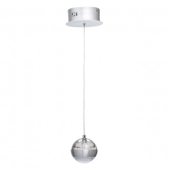 DE MARKT 730010101 | Coppelia De Markt függeszték lámpa 1x LED 540lm 3000K alumínium, savmart, átlátszó