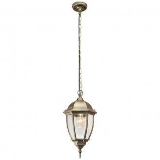 DE MARKT 804010401 | Fabur De Markt függeszték lámpa 1x E27 1075lm IP44 antikolt arany, átlátszó