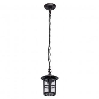 DE MARKT 806011001 | Glasgow-MW De Markt függeszték lámpa 1x E27 645lm IP44 antikolt fekete, vízcsepp hatás