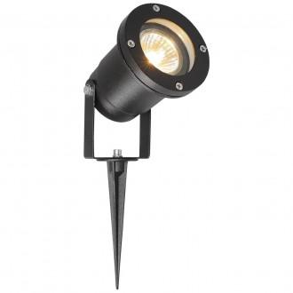DE MARKT 808040201 | Titan-MW De Markt leszúrható lámpa 1x GU10 430lm IP65 fekete, átlátszó