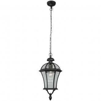 DE MARKT 811010301 | Sandra-MW De Markt függeszték lámpa 1x E27 1075lm IP23 fekete, átlátszó
