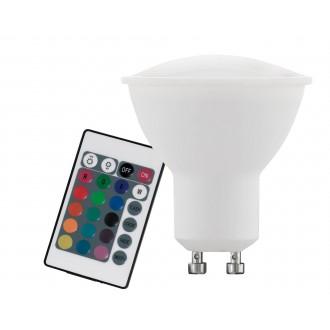 EGLO 10686 | GU10 4W -> 22W Eglo spot LED fényforrás RGB-WW 220lm 3000K szabályozható fényerő, színváltós távirányító CRI>80