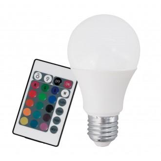 EGLO 10899 | E27 7,5W -> 40W Eglo normál A60 LED fényforrás RGB-WW 470lm 3000K szabályozható fényerő, színváltós távirányító CRI>80