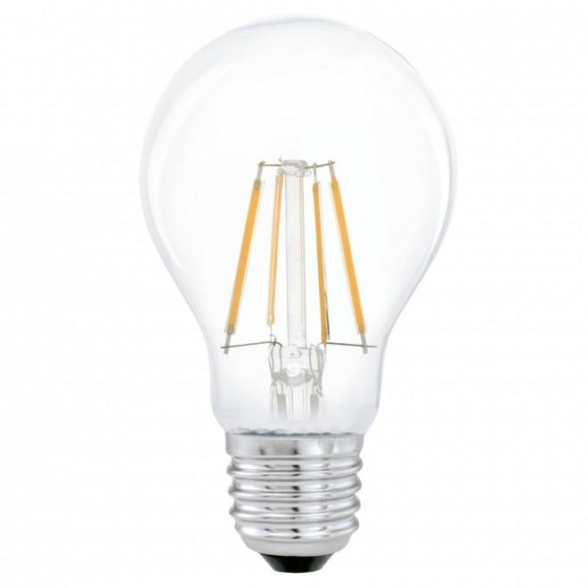 EGLO 11491 | E27 4W -> 31W Eglo normál A60 LED fényforrás filament 350lm 2700K 360° CRI>80