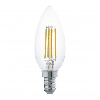 EGLO 11496 | E14 4W -> 30W Eglo gyertya C35 LED fényforrás filament 350lm 2700K 360° CRI>80