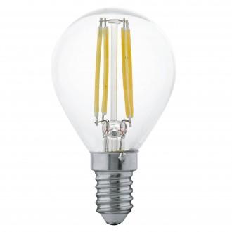 EGLO 11499 | E14 4W -> 30W Eglo kis gömb P45 LED fényforrás filament 350lm 2700K 360° CRI>80