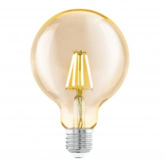 EGLO 11522 | E27 4W -> 30W Eglo nagy gömb G95 LED fényforrás filament 330lm 2200K 360° CRI>80