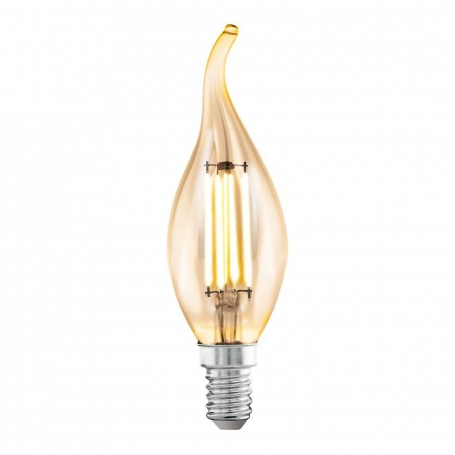EGLO 11559 | E14 4W -> 22W Eglo dekor gyertya FC35 LED fényforrás filament 220lm 2200K 360° CRI>80
