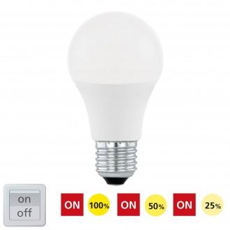 EGLO 11561 | E27 10W -> 60W Eglo normál A60 LED fényforrás Step Dim. 806lm 3000K szabályozható fényerő impulzus kapcsoló 200° CRI>80
