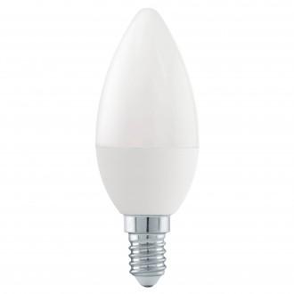 EGLO 11581 | E14 6W -> 40W Eglo gyertya C37 LED fényforrás Step Dim. 470lm 3000K szabályozható fényerő impulzus kapcsoló 180° CRI>80