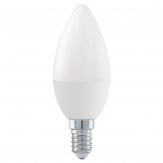 EGLO 11582 | E14 6W -> 40W Eglo gyertya C37 LED fényforrás Step Dim. 470lm 4000K szabályozható fényerő impulzus kapcsoló 180° CRI>80