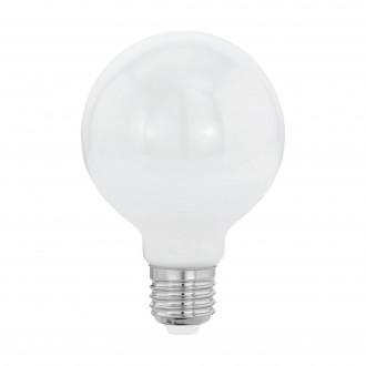 EGLO 11598 | E27 8W -> 60W Eglo nagy gömb G80 LED fényforrás filament, milky 806lm 2700K 360° CRI>80