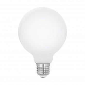 EGLO 11599 | E27 5W -> 40W Eglo nagy gömb G95 LED fényforrás filament, milky 470lm 2700K 360° CRI>80
