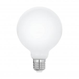 EGLO 11601 | E27 8W -> 60W Eglo nagy gömb G95 LED fényforrás filament, milky 806lm 2700K 360° CRI>80