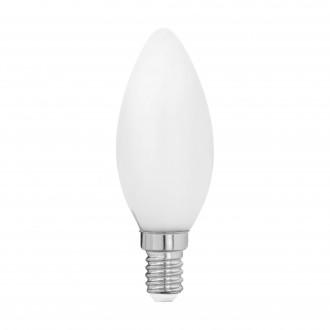 EGLO 11602 | E14 4W -> 40W Eglo gyertya C35 LED fényforrás filament, milky 470lm 2700K 360° CRI>80