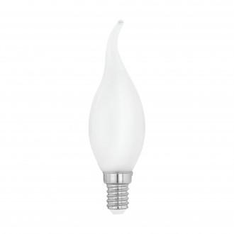 EGLO 11603 | E14 4W -> 40W Eglo dekor gyertya FC35 LED fényforrás filament, milky 470lm 2700K 360° CRI>80
