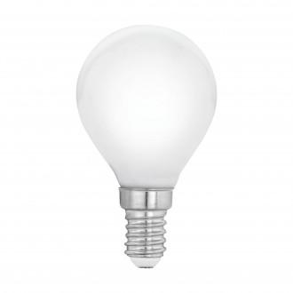 EGLO 11604 | E14 4W -> 40W Eglo kis gömb P45 LED fényforrás filament, milky 470lm 2700K 360° CRI>80