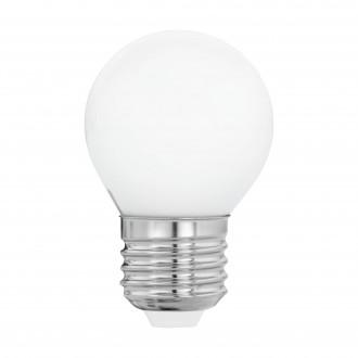 EGLO 11605 | E27 4W -> 40W Eglo kis gömb G45 LED fényforrás filament, milky 470lm 2700K 360° CRI>80
