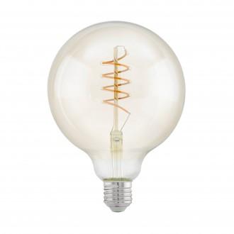 EGLO 11683 | E27 4W -> 25W Eglo nagy gömb G125 LED fényforrás filament, Spiral 260lm 2200K 360° CRI>80