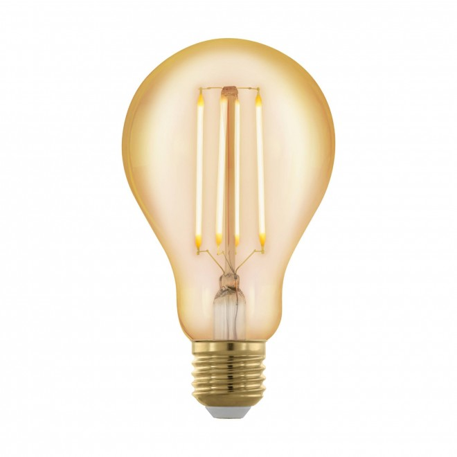 EGLO 11691 | E27 4W -> 30W Eglo normál A75 LED fényforrás filament, golden age 320lm 1700K szabályozható fényerő 360° CRI>80