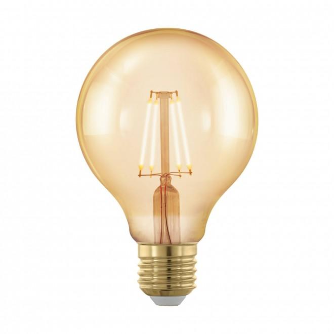 EGLO 11692 | E27 4W -> 30W Eglo nagy gömb G80 LED fényforrás filament, golden age 320lm 1700K szabályozható fényerő 360° CRI>80