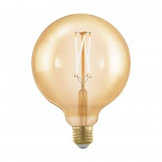 EGLO 11694 | E27 4W -> 30W Eglo nagy gömb G125 LED fényforrás filament, golden age 320lm 1700K szabályozható fényerő 360° CRI>80