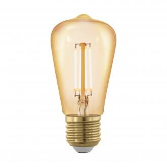 EGLO 11695 | E27 4W -> 30W Eglo Edison ST48 LED fényforrás filament, golden age 320lm 1700K szabályozható fényerő 360° CRI>80