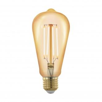 EGLO 11696 | E27 4W -> 30W Eglo Edison ST64 LED fényforrás filament, golden age 320lm 1700K szabályozható fényerő 360° CRI>80