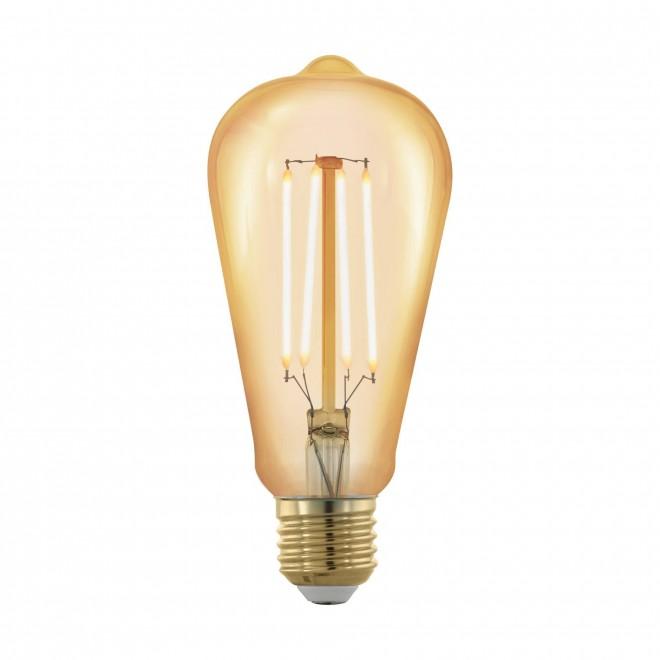 EGLO 11696   E27 4W -> 30W Eglo Edison ST64 LED fényforrás filament, golden age 320lm 1700K szabályozható fényerő 360° CRI>80