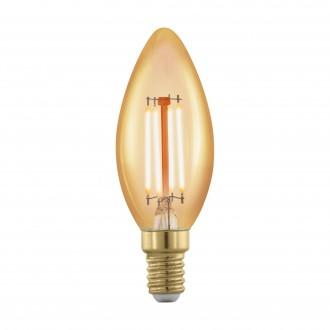 EGLO 11698 | E14 4W -> 30W Eglo gyertya C37 LED fényforrás filament, golden age 320lm 1700K szabályozható fényerő 360° CRI>80