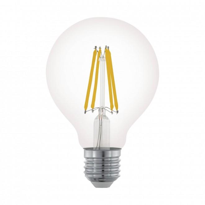 EGLO 11702 | E27 6W -> 60W Eglo nagy gömb G80 LED fényforrás filament 806lm 2700K szabályozható fényerő 360° CRI>80