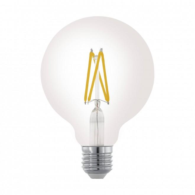 EGLO 11703 | E27 6W -> 60W Eglo nagy gömb G95 LED fényforrás filament 806lm 2700K szabályozható fényerő 360° CRI>80