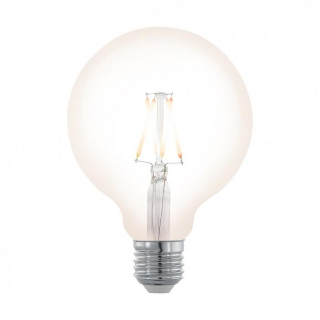 EGLO 11707 | E27 4W -> 32W Eglo nagy gömb G95 LED fényforrás filament, northern lights 390lm 2200K szabályozható fényerő 360° CRI>80