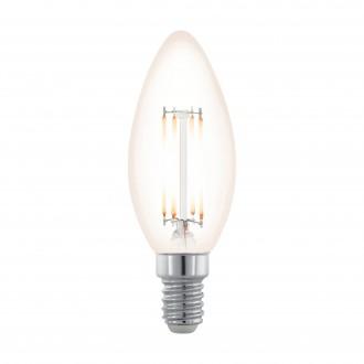 EGLO 11708 | E14 3,5W -> 28W Eglo gyertya C35 LED fényforrás filament, northern lights 300lm 2200K szabályozható fényerő 360° CRI>80