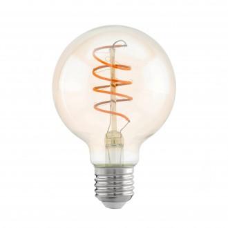 EGLO 11722 | E27 4W -> 25W Eglo nagy gömb G80 LED fényforrás filament, Spiral 260lm 2200K 360° CRI>80