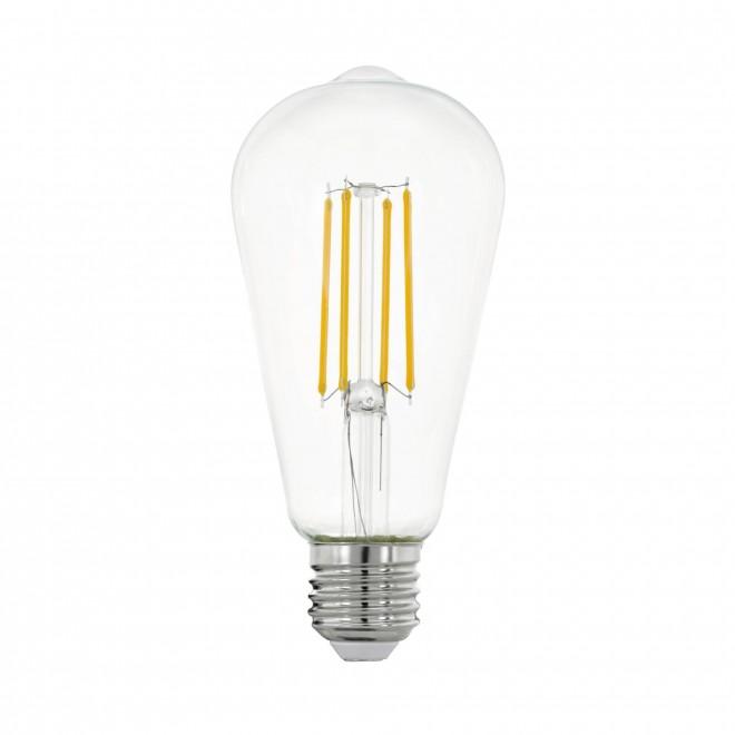 EGLO 11757 | E27 7W -> 60W Eglo Edison ST64 LED fényforrás filament 806lm 2700K 320° CRI>80
