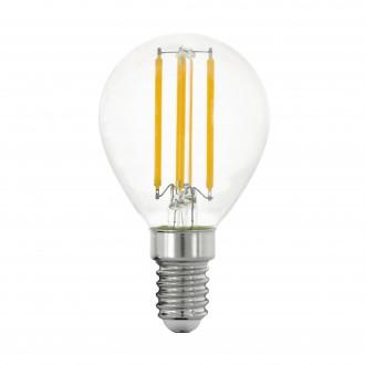 EGLO 11761 | E14 4W -> 40W Eglo kis gömb P45 LED fényforrás filament 470lm 2700K 320° CRI>80