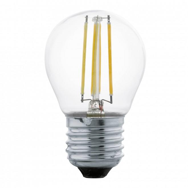 EGLO 11762 | E27 4W -> 40W Eglo kis gömb G45 LED fényforrás filament 470lm 2700K 320° CRI>80