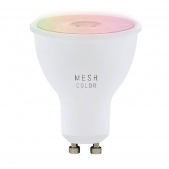 EGLO 11856 | GU10 5W -> 50W Eglo spot LED fényforrás RGBTW okos világítás 345lm 2700 <-> 6500K szabályozható fényerő, állítható színhőmérséklet, színváltós CRI>80